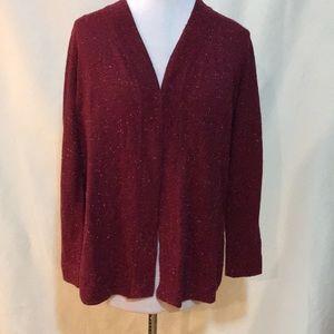 Karen Scott maroon/red cardigan